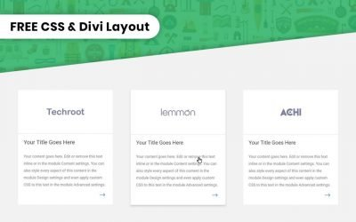 Google Style Clickable Divi Blurbs #1 – Tutorial, CSS Snippet, and Free Layout