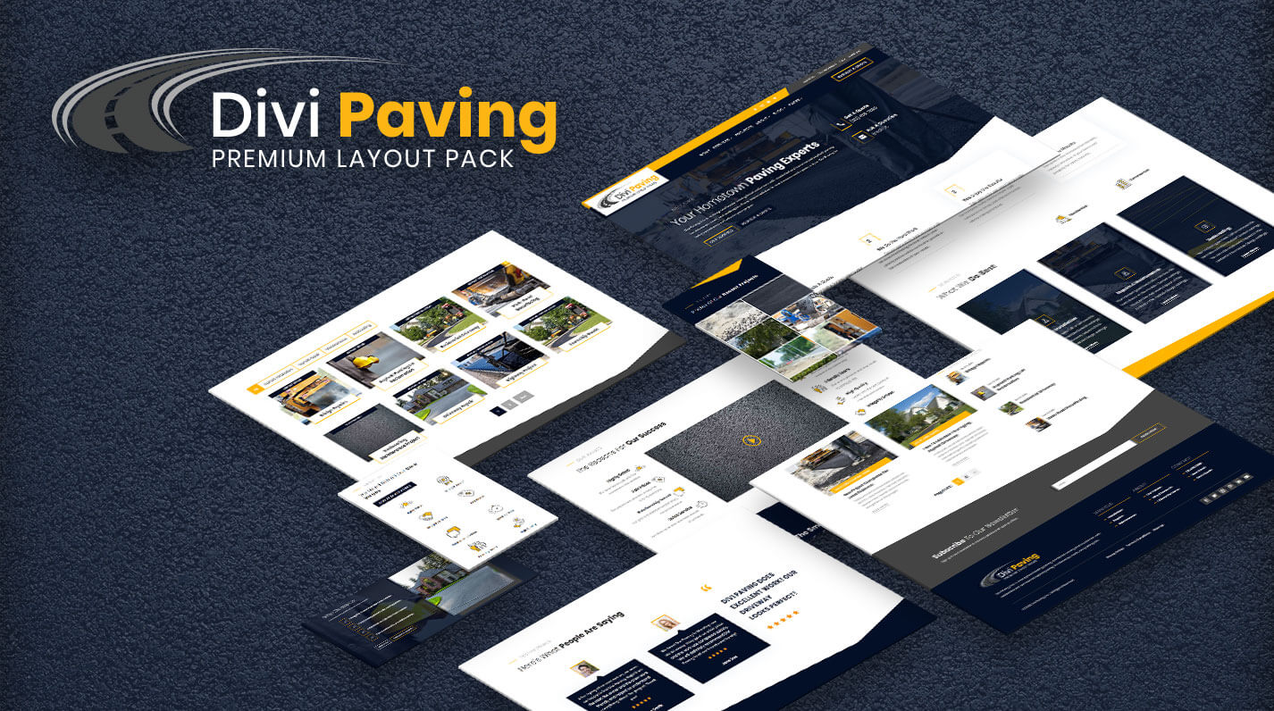 Divi Paving Layout Pack Product Featured Image