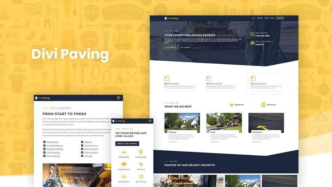 Divi Paving Child Theme and Layout Pack