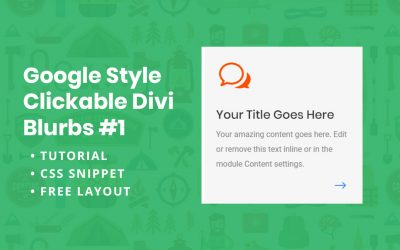 Google Style Clickable Divi Blurbs #1