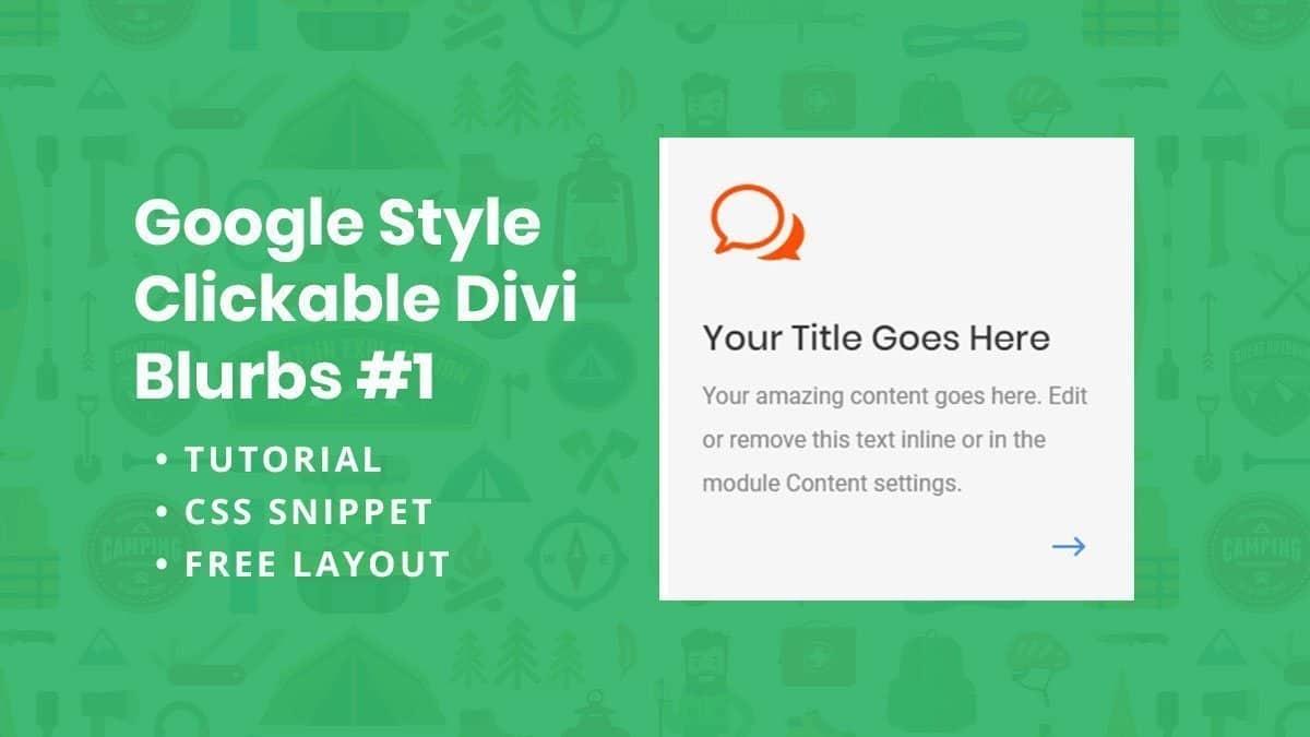 Google Style Divi Blurbs #1