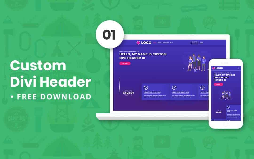 Custom Divi Header 01 – Free Download