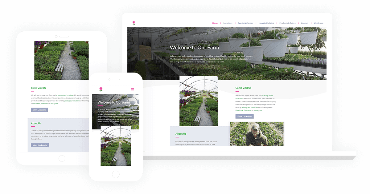 Farm Pennsylvania Divi Website Design