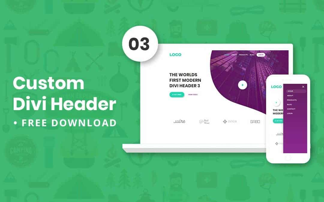 Custom Divi Header 03 – Free Download