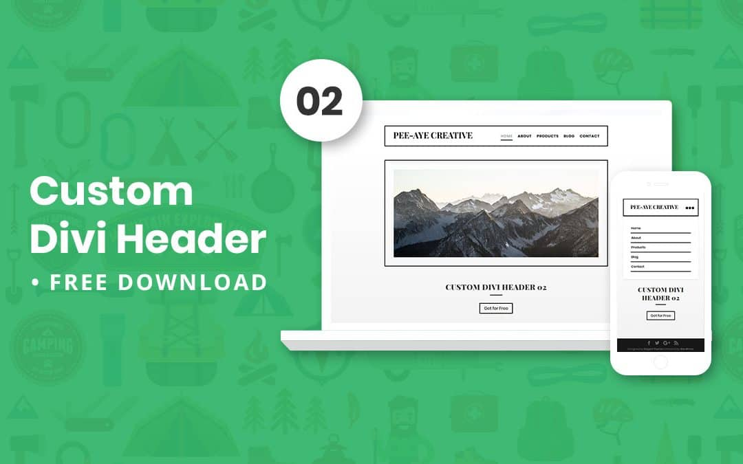 Custom Divi Header 02 – Free Download