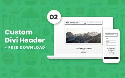 Custom Divi Header 02 – Free Download