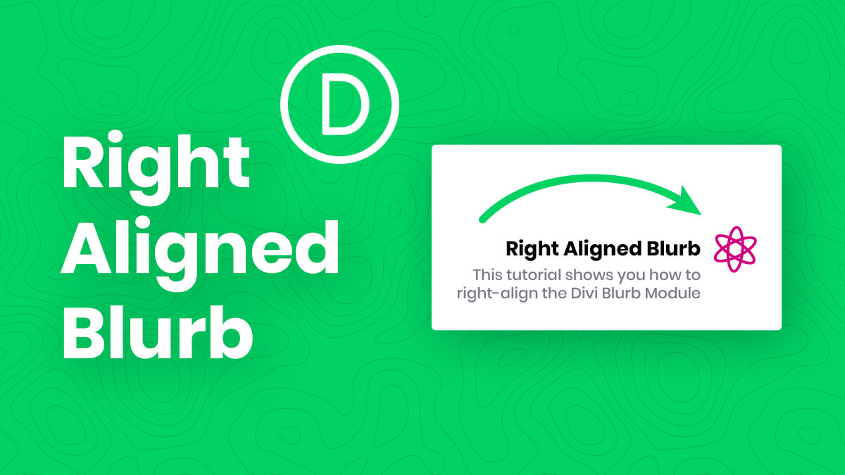 How To Right Align The Divi Blurb Module Image/Icon