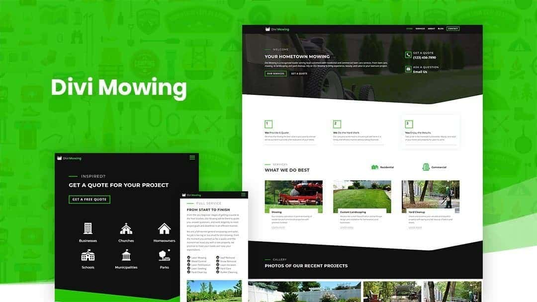 Divi Paving Child Theme Layout Pack