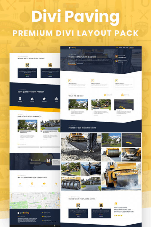 Divi Paving Layout Pack by Pee-Aye Creative