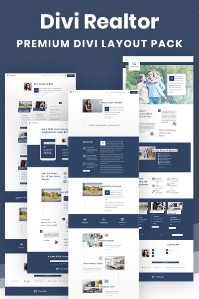 Divi Realtor Layout Pack by Pee-Aye Creative