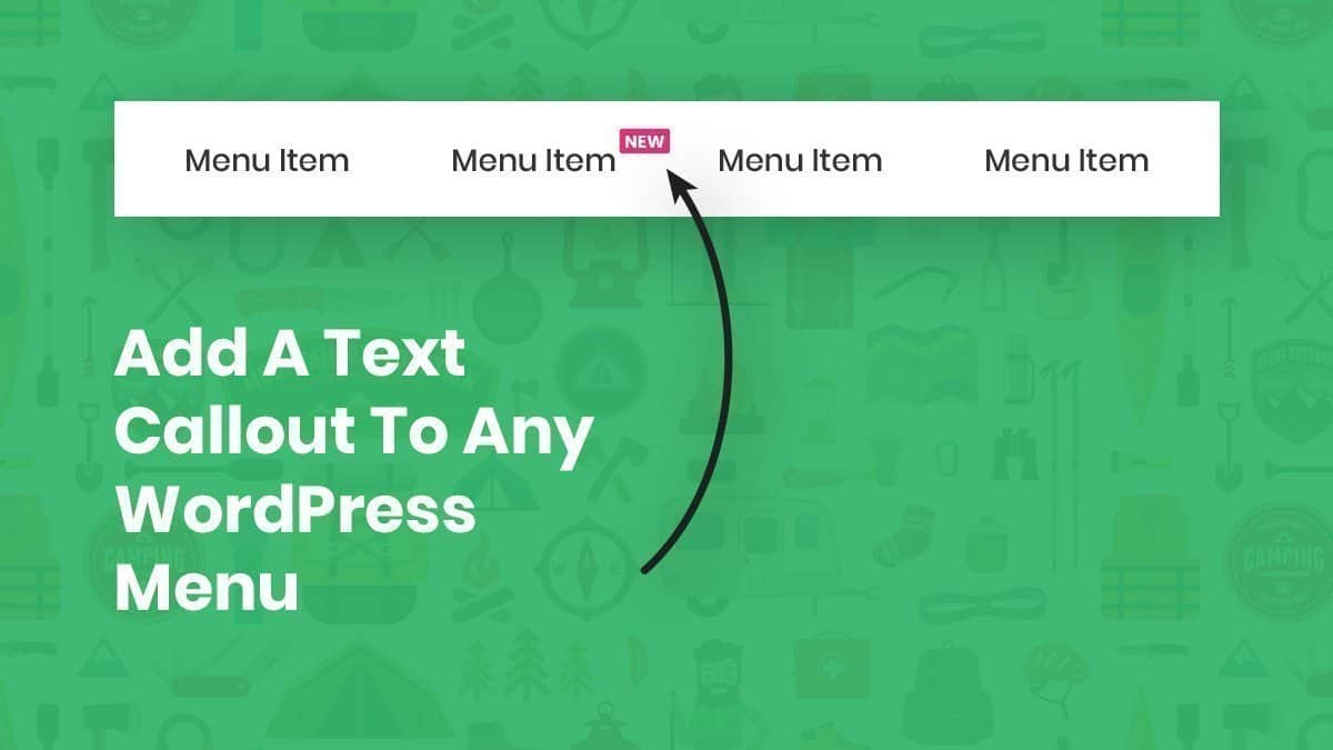 how to add a text callout to any wordpress divi menu