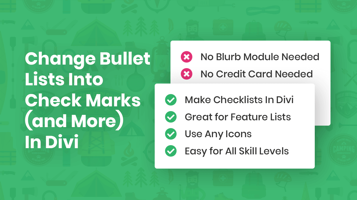 How To Change Bullet Lists Into Check Marks (and More) In Divi