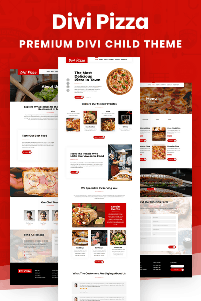 Divi Pizza Child Theme by Pee-Aye Creative
