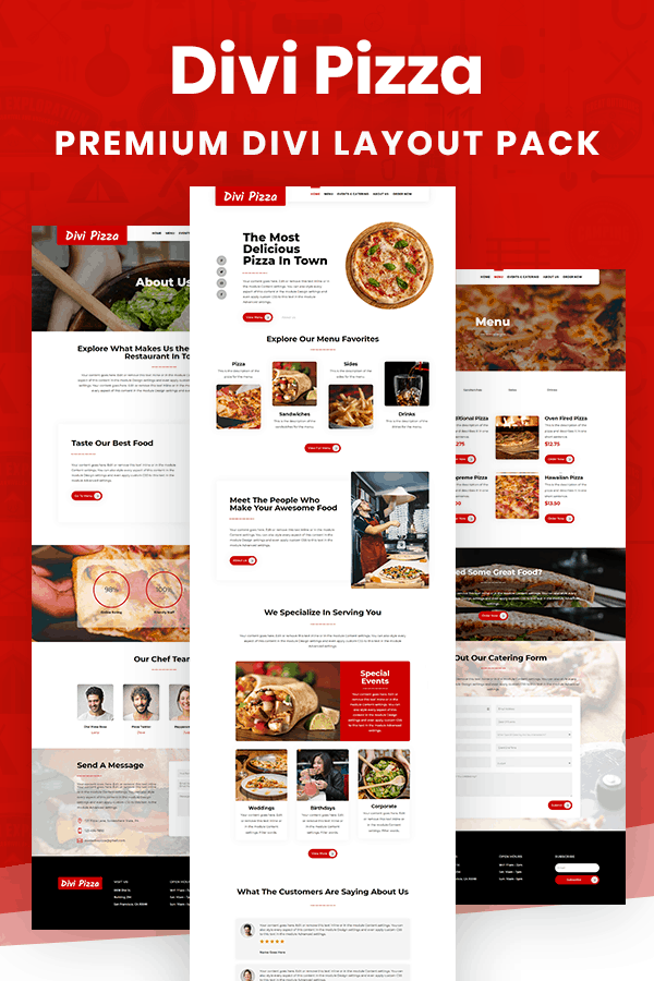 Divi Pizza Layout Pack by Pee-Aye Creative