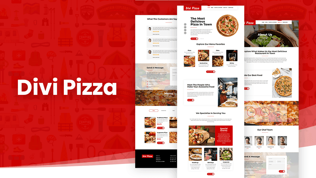 Divi Pizza Documentation & Support
