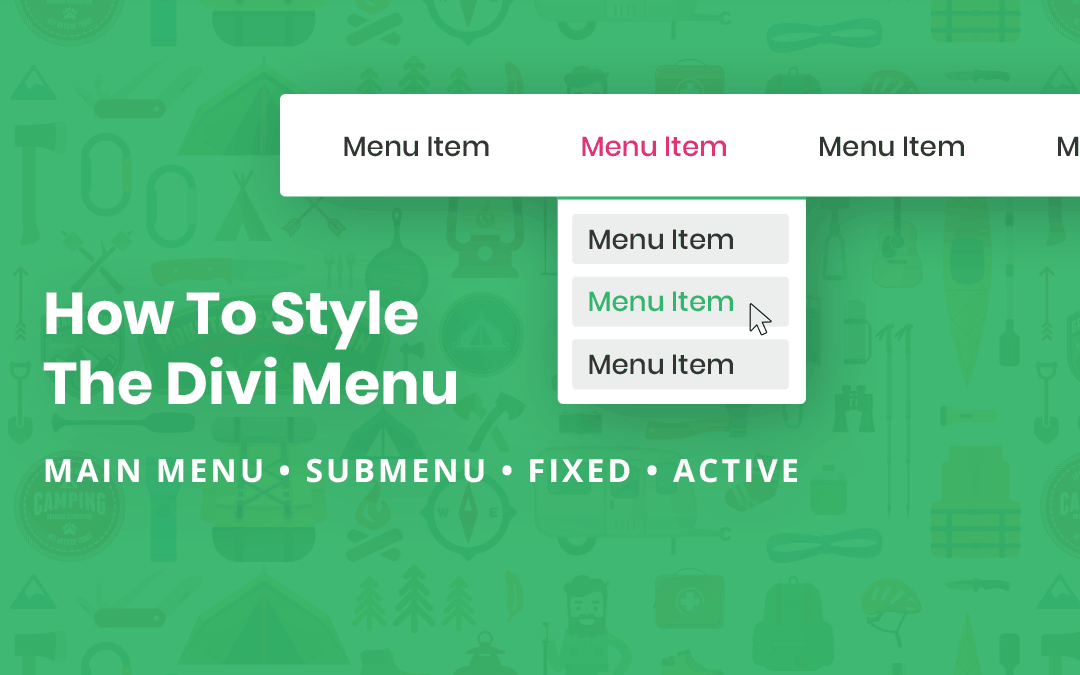 How To Style The Divi Menu