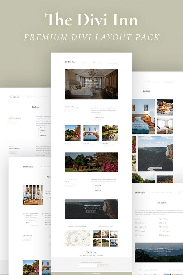 The Divi Inn Layout Pack by Pee-Aye Creative