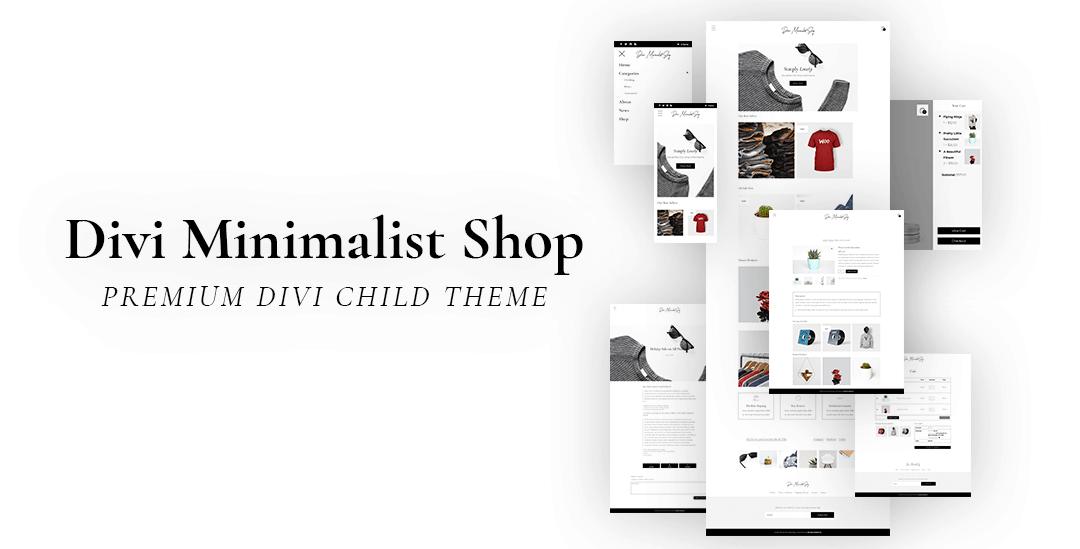 Divi Minimalist Shop