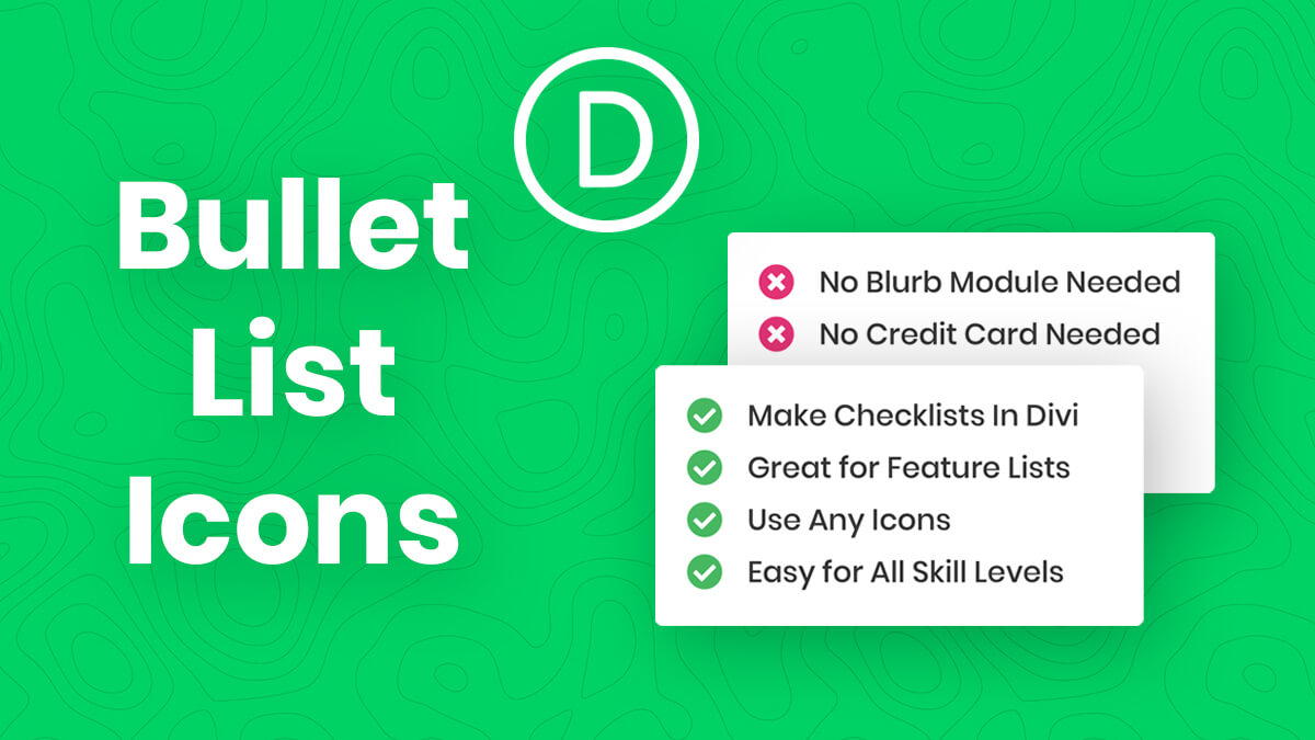 How To Change Bullet Lists Into Checkmarks Or Other Icons In Divi