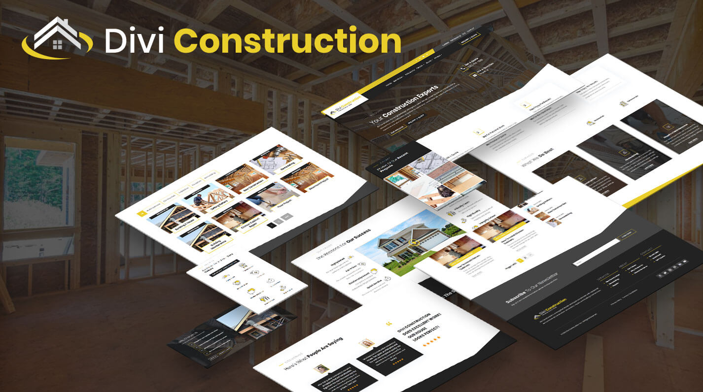 Divi Construction template by Pee-Aye Creative