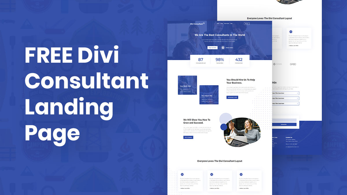 Divi Consultant Landing Page Layout – Free Download