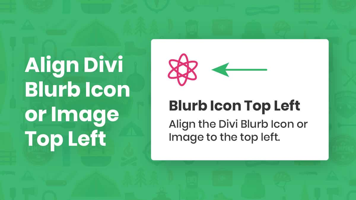 How To Align The Divi Blurb Icon Or Image To The Top Left