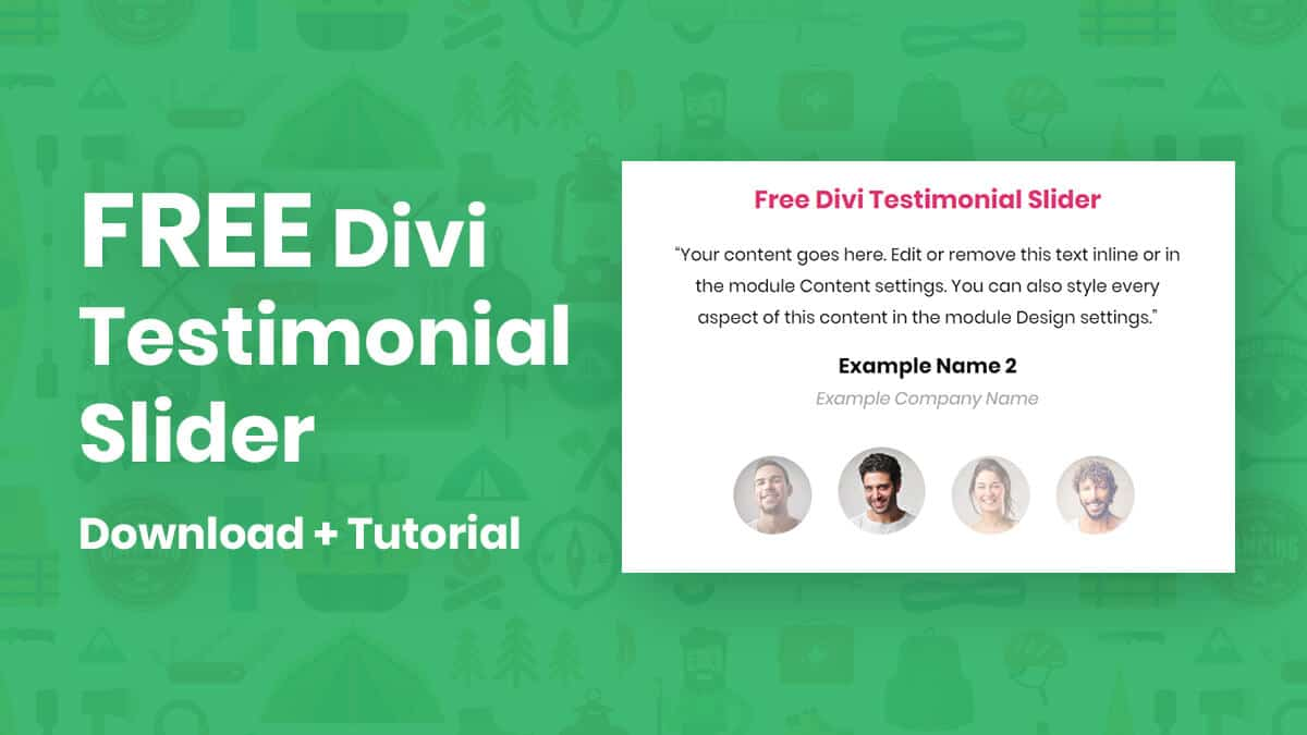 FREE Divi Testimonial Slider and Tutorial