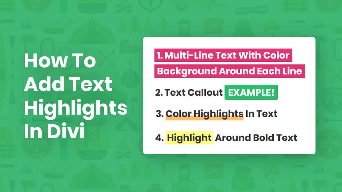 How To Add Text Highlights in Divi Tutorial by Pee-Aye Creative