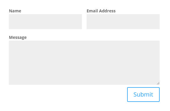 move the Divi contact form labels above the form fields after