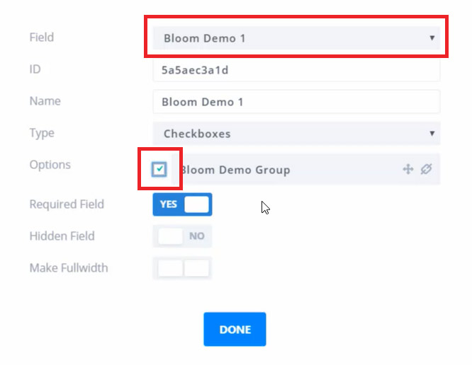 Adding a custom field in Bloom for Mailchimp groups