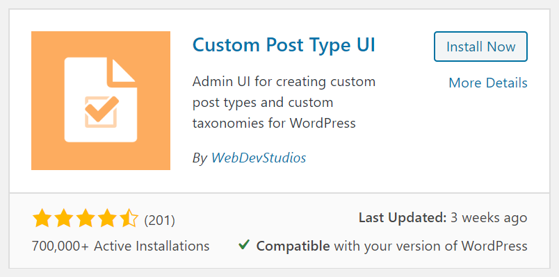 Custom Post Type UI with Divi