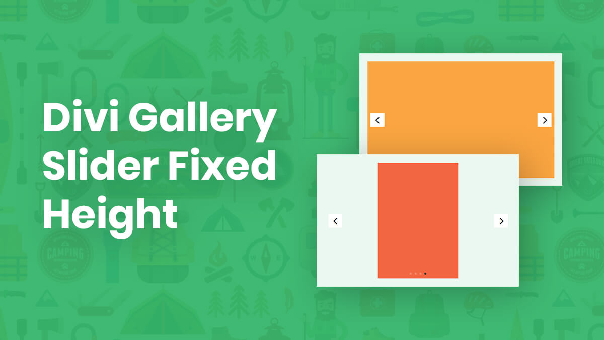 How To Force The Divi Gallery Slider To A Fixed Height