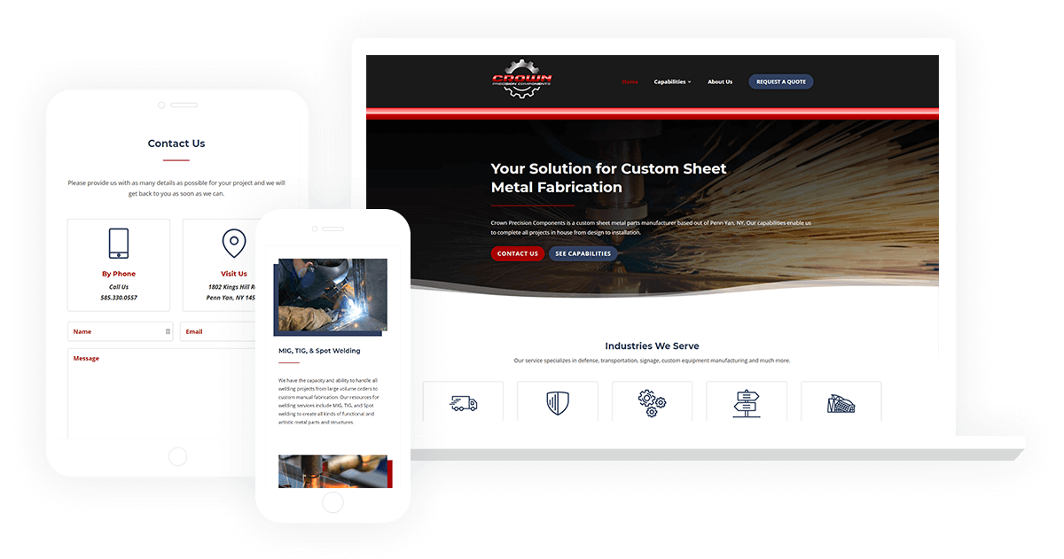 Industrial Pennsylvania Divi Website Design