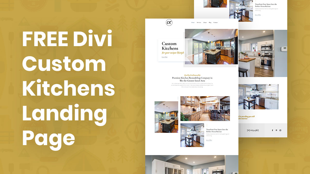 Divi Custom Kitchens Free Landing Page