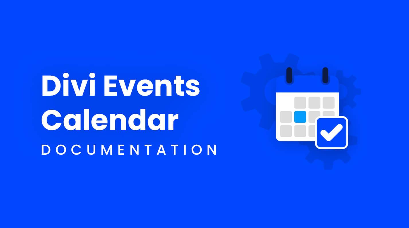 Divi Events Calendar Documentation