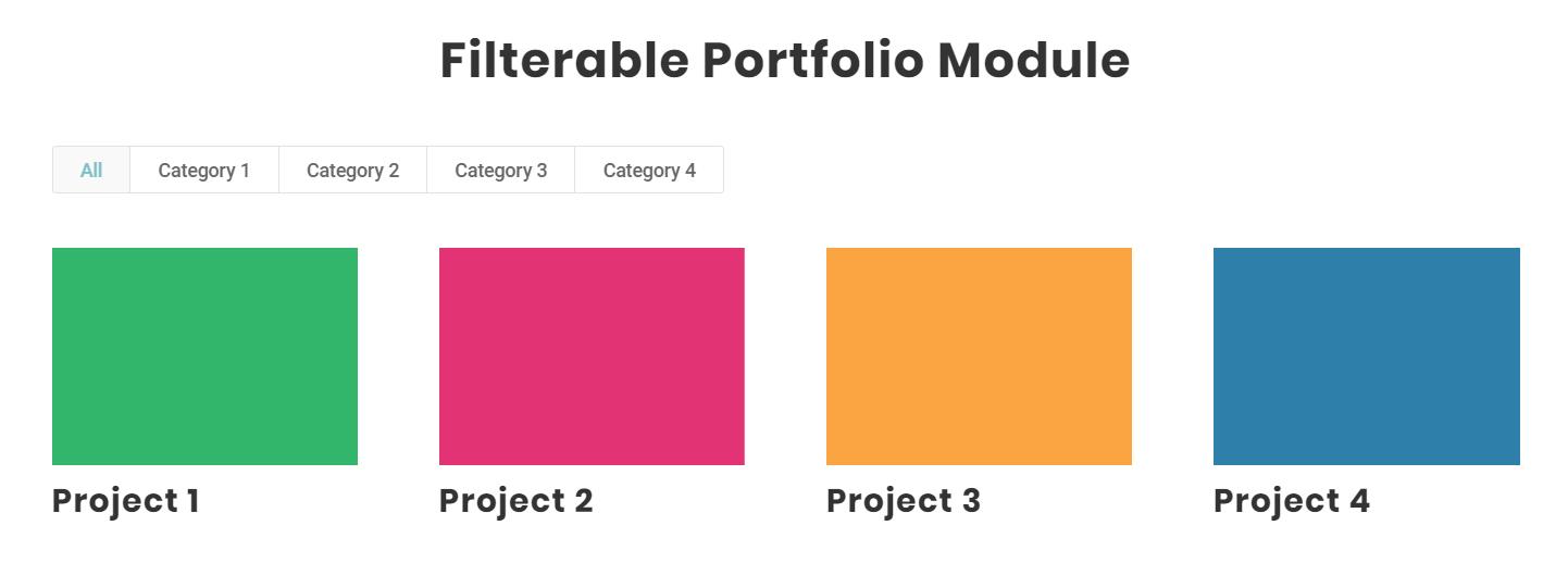 Divi filterable portfolio module featured image crop