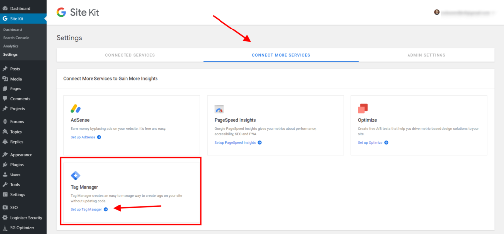 How To Set Up Google Tag Manager in Google Site Kit with Divi