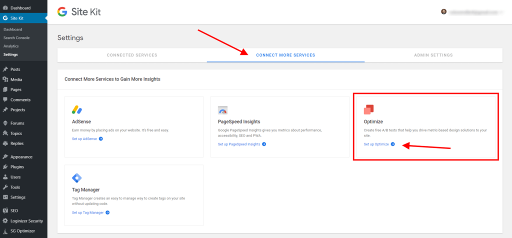 How To Set up Google Optimize with Google Site Kit in Divi