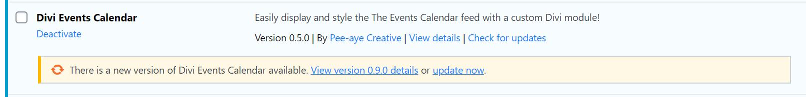 How to update the Divi Events Calendar Module plugin