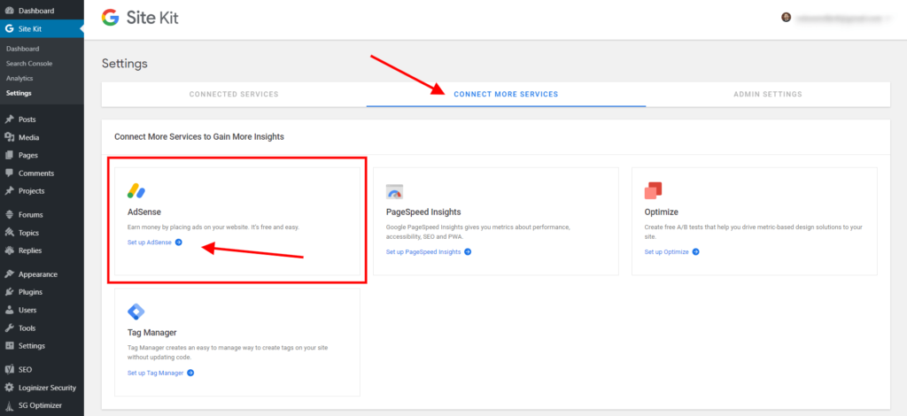 Set Up Google Adsense in Google Site Kit with Divi