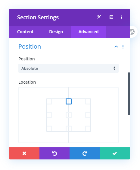 make transparent Divi header fixed absolute over top of section