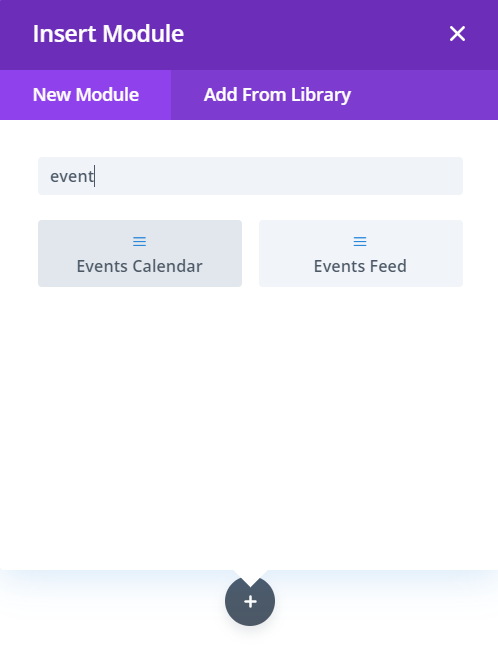 Events Feed and Events Calendar modules