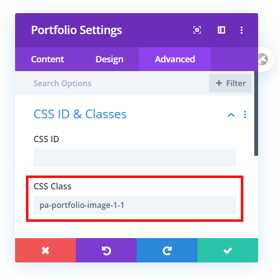 How to change the Divi portfolio image aspect ratio