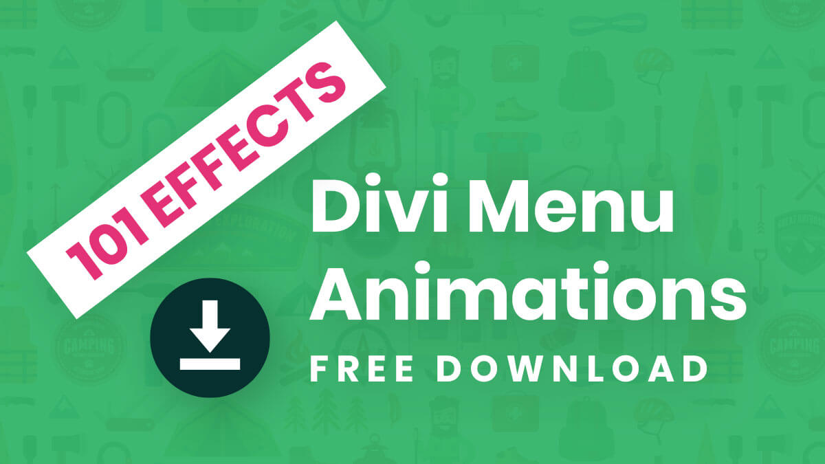 101 Free Custom Divi Menu Hover Effects and Animations