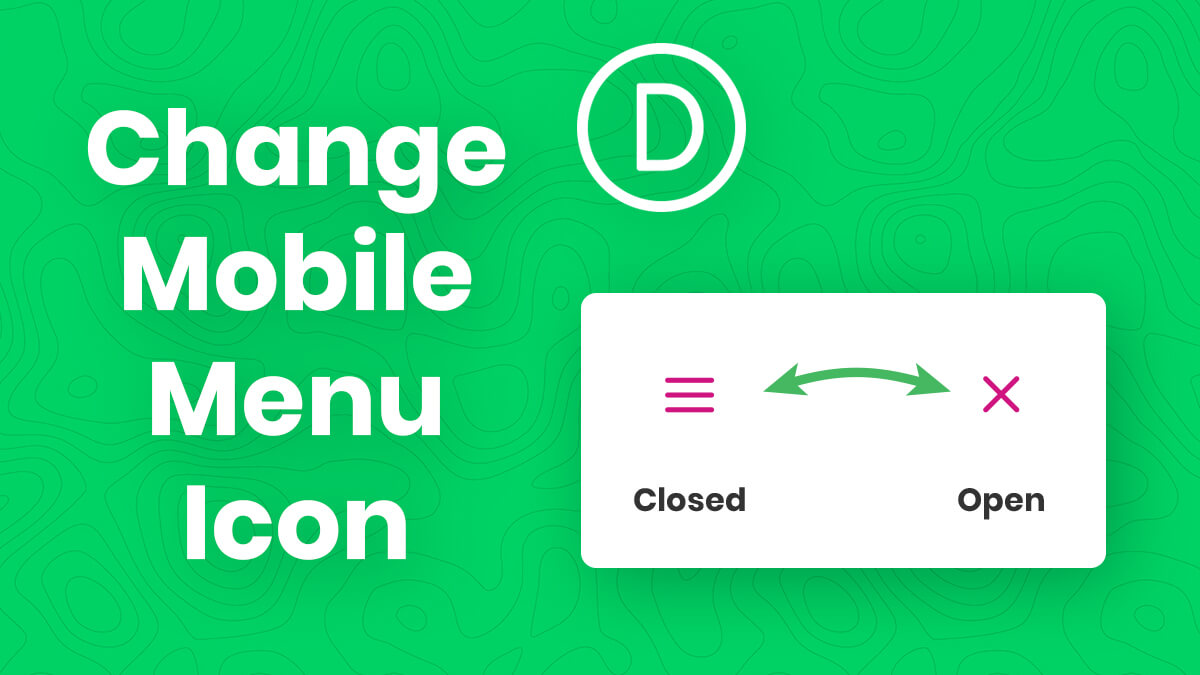 How To Change The Divi Menu Module Hamburger Icon To An X When Open