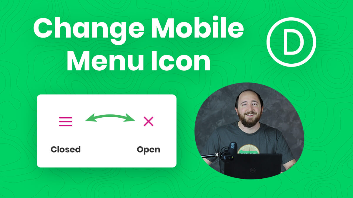 How To Change The Divi Mobile Menu Hamburger Icon To An X When Open YouTube Video Tutorial by Pee Aye Creative
