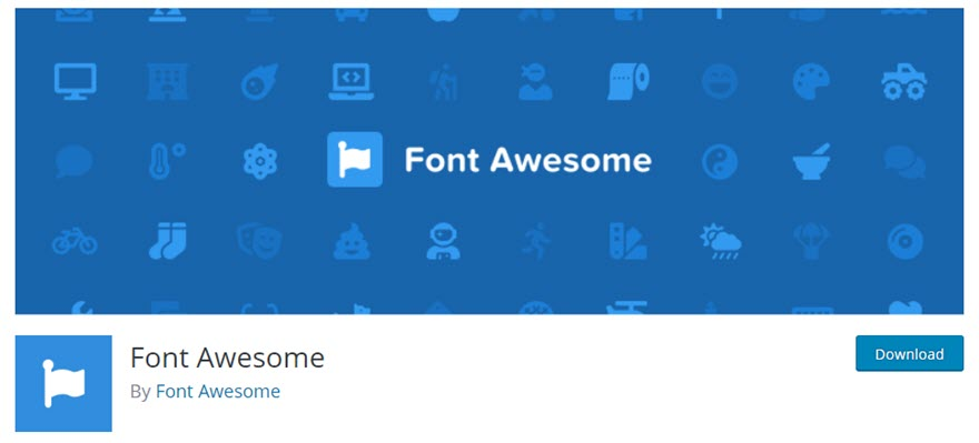 Install the Font Awesome plugin in Divi