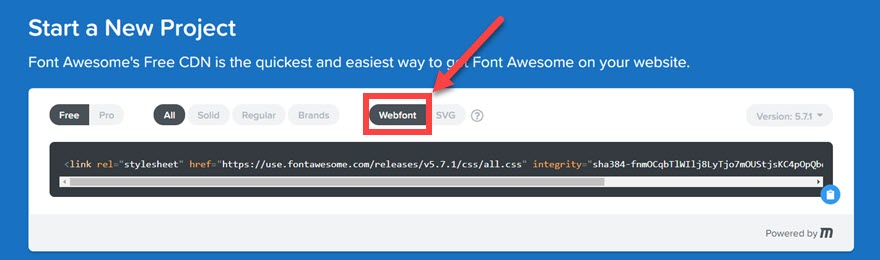 copy the Font Awesome CDN code to copy into Divi