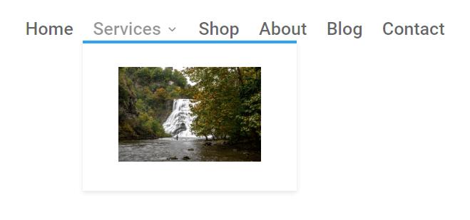 final result of image added to a Divi menu submenu