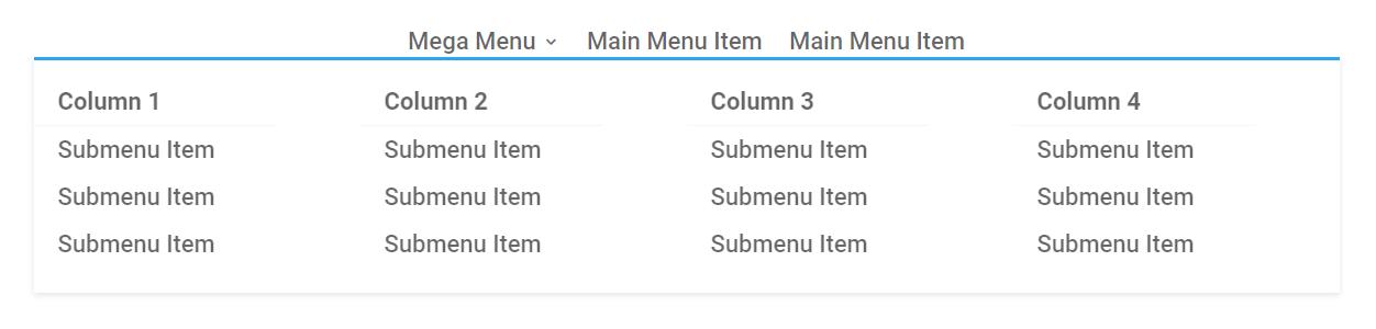 how to creat a Divi mega menu